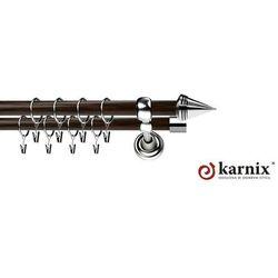 Karnisz Metalowy Prestige podwójny 19/19mm Stożek INOX - wenge