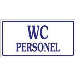 Oznaczenie toalet - WC DLA PERSONELU