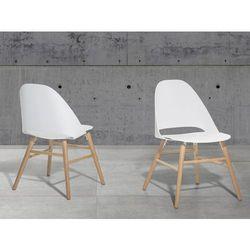 Krzeslo biale - krzeslo do jadalni, kuchni - krzeslo bubelkowe - MILFORD