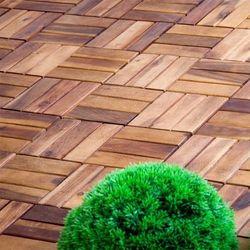 Drewniane płytki podest z akacji 30 x 30 x 2,4 cm 1 m2