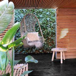 HK Living :: Fotel wiszący na zewnątrz czarny