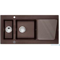 Zlewozmywak DEANTE Modern 1.5-komorowy z ociekaczem brązowy metalik