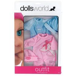 Zestaw 2 ubranek dla lalek różowy/niebieski