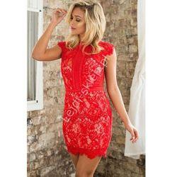 Czerwona koronkowa sukienka | czerwone sukienki