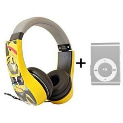 Słuchawki Nauszne Dzieci Transformers Bumblebee + Odtwarzacz MP3 Srebrny