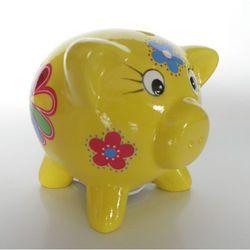 Skarbonka świnka żółta