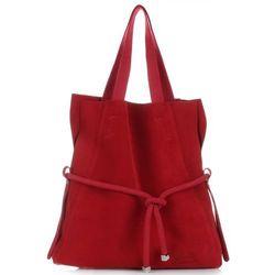 a14bd1cd30166 Uniwersalna i Modna Torebka Skórzana Vittoria Gotti Shopper XL z  Kosmetyczką Czerwona (kolory)