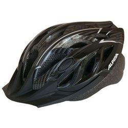 ALPINA Tour 3 - Kask rowerowy, 52-57cm - Black-Carbon (52-57cm)