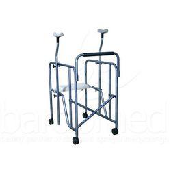 Balkonik inwalidzki z podpaszkami