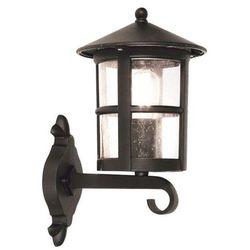 Zewnętrzna LAMPA ścienna HEREFORD BL22/G Elstead KINKIET metalowa OPRAWA ogrodowa IP43 outdoor czarny
