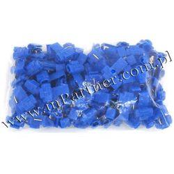 Szybkozłącze szybkozłączka samochodowa niebieska 1,5-2,5mm 100sz