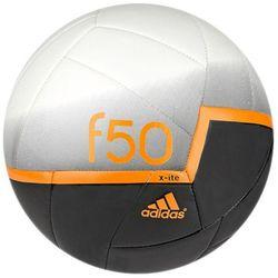 Adidas, piłka nożna F50x-ITE, biało-czarna, pomarańczowe logo Darmowa dostawa do sklepów SMYK