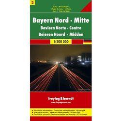 Niemcy część 2 Bawaria część północna i centralna mapa 1:200 000 Freytag & Berndt (opr. twarda)