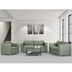 Zestaw wypoczynkowy oliwkowy - Sofa - trzyosobowa - dwuosobowa - fotel - HELSINKI