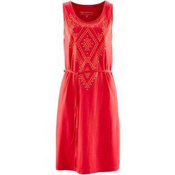 Sukienka z ćwiekami bonprix truskawkowy
