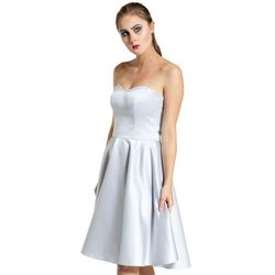 75ab8a6e05 suknie sukienki sukienka gorsetowa z dluzszym tylem szara - porównaj ...