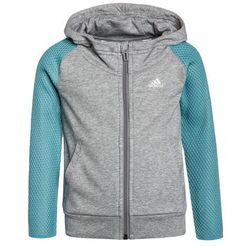 adidas Performance Bluza rozpinana medium grey heather/vapour blue