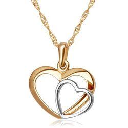 Złoty Komplet 585 Łańcuszek z Sercem GRAWER ZZ150