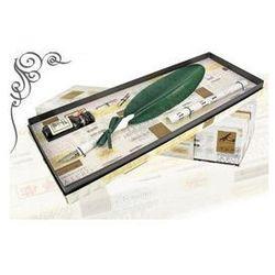 Zestaw do kaligrafii La Kaligrafica ( pióro gęsie ze stalówką + 2 stalówki + atrament ) - zielony
