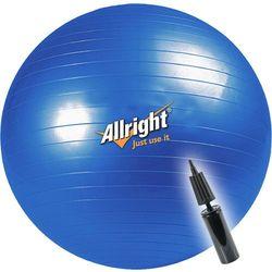 Piłka gimnastyczna śr.75 cm + pompka Allright (niebieska)