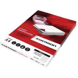 Etykiety samoprzylepne A4 Emerson, nr 10, wymiary CD 118 x 118 mm, opakowanie 100 arkuszy