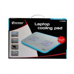 Chłodząca podkładka pod laptopa LF-2468 WB biało niebieska
