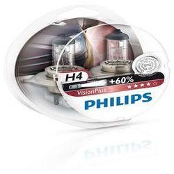 Żarówka Philips - H4 60/55W P43t 12V Halogen VisionPlus +60% - 2 sztuki