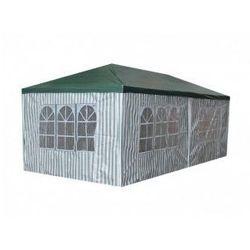 Pawilon ogrodowy 3x6 m - zielono-biały - 6 paneli bocznych