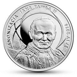 Kanonizacja Jana Pawła II - 10 zł - srebro