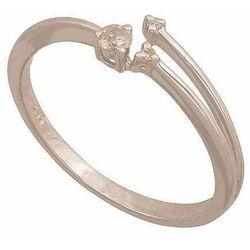 Pierścionek z białego złota z brylantami 24378
