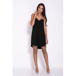 30ac45d7f7 suknie sukienki czarna sukienka na wesele studniowke z koronka ...
