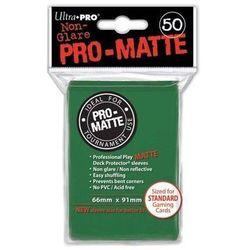 Koszulki (protektory) ultra pro zielone matt 50s