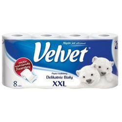 VELVET 8szt XXL Delikatnie Biały papier toaletowy