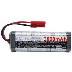 3000mAh 21.60Wh Ni-MH 7.2V 6S SC Gold Plug (Cameron Sino)