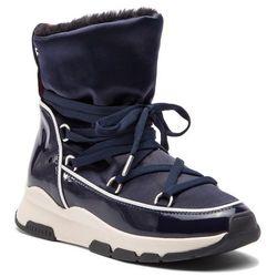 f9d2b10605b29 Botki TOMMY HILFIGER - Cool Technical Satin Winter Boot FW0FW03697 Midnight  403