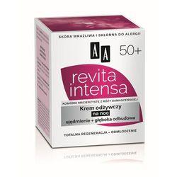 AA Revita Intensa Krem odżywczy na noc ujędrnienie + głęboka odbudowa 50+