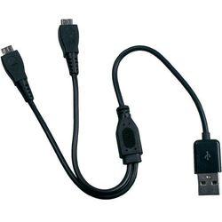 Kabel rozdzielający Y Albrechtdo radiotelefonu PMR ATR 100, USB =>2xmicroUSB, 31 cm