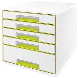 Kontener szufladowy Leitz Wow 5 szuflad 5214 - metaliczny zielony