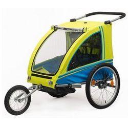 Przyczepka rowerowa BLUE BIRD dla dzieci 2w1+ wózek, składana
