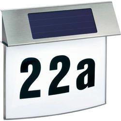 Podświetlany numer domu z zasilaniem solarnym Esotec 102200, LED wbudowany na stałe, 1x 3,6 V (1300 mAh), 100 h, IP34, (SxWxG) 30.5 x 28.5 x 6 cm