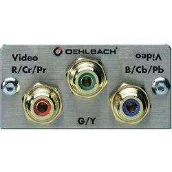 Panel multimedialny Oehlbach, video RGB cinch, pozłacane wtyki, kabel