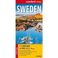 Szwecja / Sweden laminowana mapa samochodowa 1:1 mln (opr. miękka)