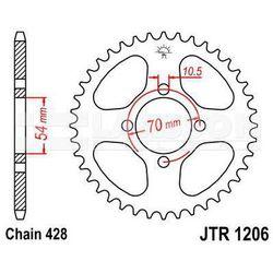 Zębatka tylna stalowa JT 1206-42, 42Z, rozmiar 428 2302019 Honda CBR 125