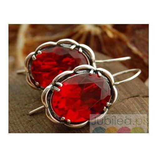 5317920a2a4fa4 FABIOLA - srebrne kolczyki z rubinem - porównaj zanim kupisz
