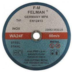 Tarcza do cięcia metalu 230 x 2.5mm FELMAN