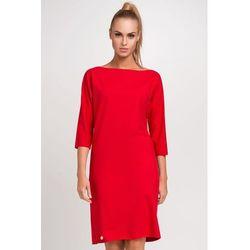 bb64c6f28e suknie sukienki sukienka w paski dekolt w lodke dlugi rekaw dzianina ...