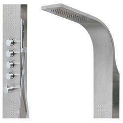 Corsan Samsara panel prysznicowy z termostatem stal szczotkowana S-003