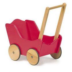 Wózek drewniany dla lalek Czerwony