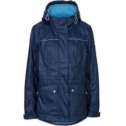 Gumowana kurtka outdoorowa 3 w 1 bonprix ciemnoniebieski