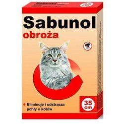 Sabunol obroża czerwona przeciw pchłom i kleszczom dla kota 35 cm